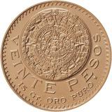 Moneda Azteca 20 Pesos Oro