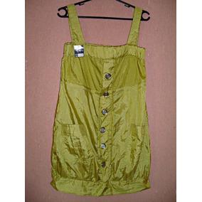Mini Vestido\ Blusão Em Tafetá - Tam P = 95 Cm Busto