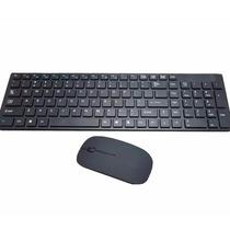 Kit Teclado Sem Fio + Mouse Alta Precisão 3200 Dpi Wireless