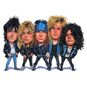 Camiseta De Rock Da Banda Slash,axl ,duff, Izzy,steven