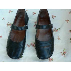 Guillermina Zapato Escolar Colegial Cuero Nº 36 Suela Goma