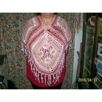 Poncho Tejido Al Crochet Encaje
