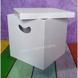 Cubo Caja Con Tapa 30x30x30 (espesor 9mm) Pintado