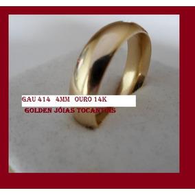 Aliança De Ouro 14k 583 Abaulada 4mm Com 4gramas Gau 414