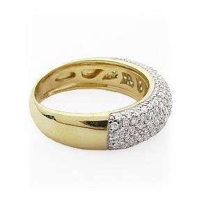 8576b631b6cc0 Anel Em Ouro 18k Pave De Pedras Preciosas - Joias e Relógios no ...