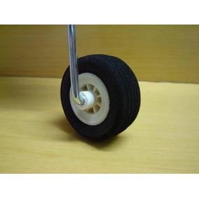 Roda Aeromodelo Borracha Eva 2 1/4, 57mm Shop Model (par)