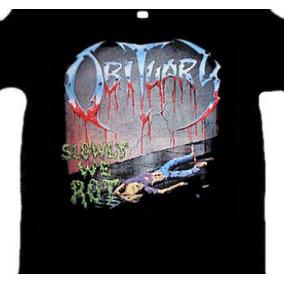 Camiseta Obtiuary - Slowly We Rot (tamanho G)