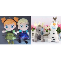 Kit 4 Pelúcias Frozen (ana E Elsa Baby)+ Olaf E Sven