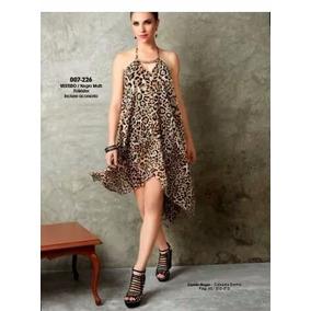 Vestido Leopardo Animal Print Moda Nacional Tch Extra Grande