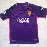Camisa Franela Barcelona Fc 2017 Purpura Morada Adultos