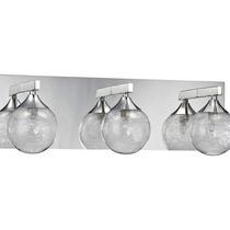 Lampara De Baño Fybra Series 3-luces Chrome Bath Light