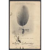 Santos Dumont - Cartão Postal Antigo Original Circulado 1901