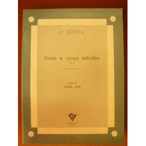 Partitura H.bertini 25 Estudos Op.29 Para Piano-cod.15/21725