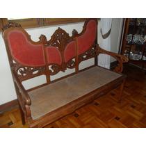 Jogo Sofá, Cadeiras E Mesas Madeira Palhinha 6 Peças