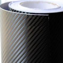 Adesivo Envelopamento Fibra Carbono Coluna Carro 13cm X 60cm