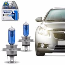 Kit Par Lampadas Super Branca Tipo Xenon 8500k H4 100w 12v
