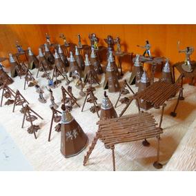 Novo Kit Forte Apache Indio Soldado Cowboy Tamanho Gulliver