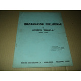 Informacion Preliminar - Renault - 4l - Modelo Ea-r4l