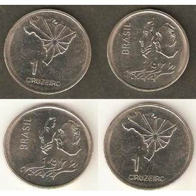 104 Dmd- Duas Moedas 1972 Cruzeiro- Cr$ 1,00- Comemorativa