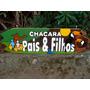 Placa De Madeira Entalhada - Chácaras, Sitios, Fazendas, Etc
