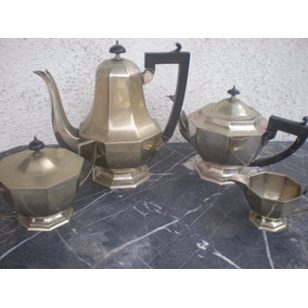 Baixela Chá E Café Em Prata Espessurada Estilo Ingles