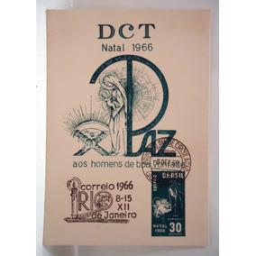 Folhinha Postal Natal 1966 Carimbos Dct Do Rio E Guanabara