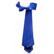 Gravata Slim Azul Royal Cetim Para Terno