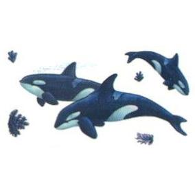 Adesivo Grande Parede Cartela Nº2 Coleção Baleias