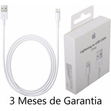 Cabo Usb Carregador Fio Apple R Ipad Iphone 5 5s 5c 6 7 Plus