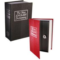Cofre Camuflado Forma De Livro Dicionário Com Chave Pequeno