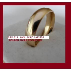 Aliança De Ouro 14k 583 Abaulada 6mm Com 6 Gramas Gau 614