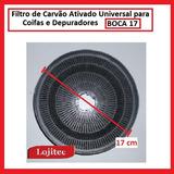 Filtro De Carvao Ativado Universal Boca 17 Para Coifas