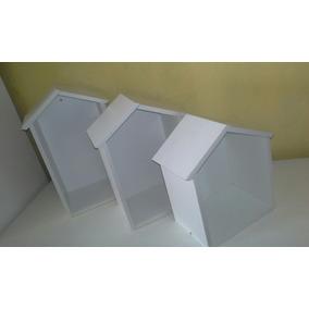 Kit 3 Pçs Nicho Decorativo Casinha 100% Mdf