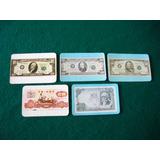 Billetes Antiguos . 5 Calendarios De Bolsillo .