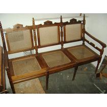 Namoradeira Palhinha Feito Imbuia Maciça Antiga (only Wood)