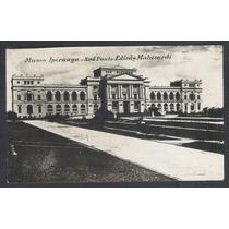 Postal Antigo Circulado 1921 Museo Ipiranga Edição Malusardi