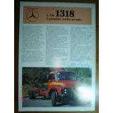 Folder Mercedes Benz Caminhão 1318 L Lk Catalogo Om Chassis