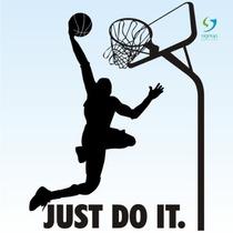 Baskete 2 Just Do It Adesivo De Parede Decorativo Rln123