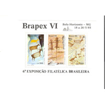 Lindo Bloco Rhm B-69 - Pinturas Rupestres - Brapex Vi !!!