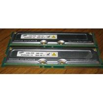 Memoria Samsung 2 X 128mb Rambus Ecc Servidores 800mhz