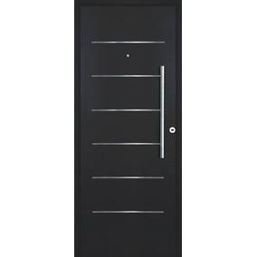 Puerta Frente Pavir Imperia Premium Grafito Negra 90 Cm