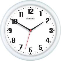 Relógio De Parede 22 Cm Diâmetro Branco Herweg 6102