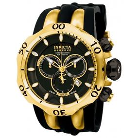 Relogio Invicta 10833 Reserve Venom Fang Black Black Poly