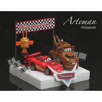Rayo Mc Queen Combo Cars Mater, Adorno Torta