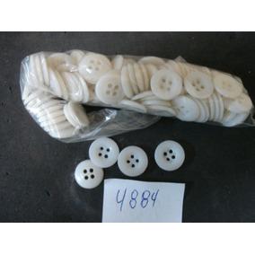 #4884# Botão Antigo De Costura Branco - 100 Unidades!