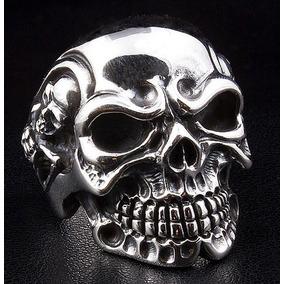 Anel Caveira Esqueletos Lateral Do Cranio (prata De Lei 950)