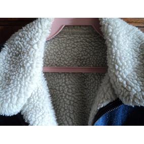 Jaqueta Jeans,interior Toda Em Lã De Carneiro Da Espanha