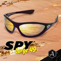 Óculos De Sol Spy - Largue 49 Preto - Lente Cinza Espelhada