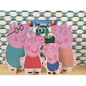 Kit Displays De Chão Familia Peppa Pig 8 Peças,mdf3mm,painel