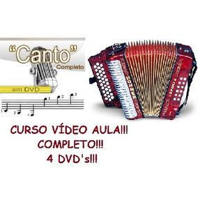 Aulas De Acordeon E Canto! 4 Dvds!